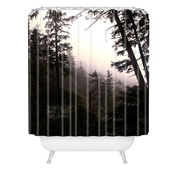 Leah Flores Forest Universe Shower Curtain