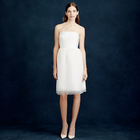 J.Crew Womens Amelia Strapless Dress In Flocked Tulle