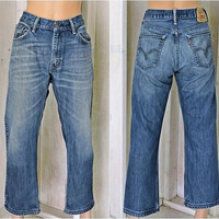 Vintage Levis 505 jeans / 32 X 30 size 8 / 9 / high waisted / straight leg / Mens  Womens