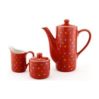 Polka Dot Coffee/Tea Set