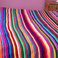 Multi colour Crochet Afghan PATTERN Download