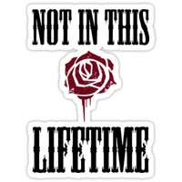 'Not in this lifetime Axl and Slash reunion. Classic Guns n´roses' Sticker by LZGraphicStudio