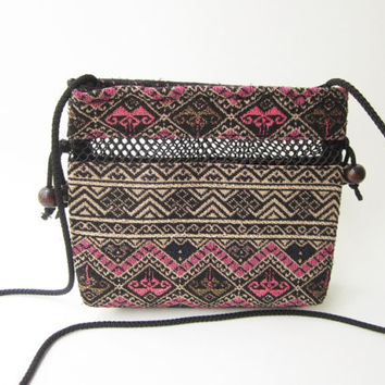 aztec boho crossbody purse women messenger bag, tribal boho crossbody purse, hippie Hmong leisure bag, coachella gypsy bag CR01