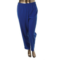 St John Womens Pull On Flat Front Casual Pants