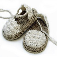 Crochet Pattern Baby Espadrille n.104 by Beatifico - Craftsy