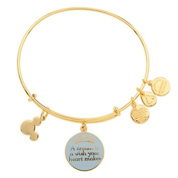 Disney Parks Alex and Ani Cinderella a Dream Is a Wish Your Heart Makes Gold Bracelet