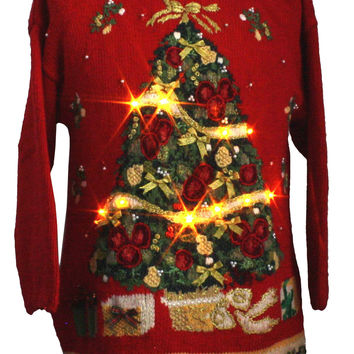 1980's Heirloom Collectibles Unisex Lightup Ugly Christmas Sweater