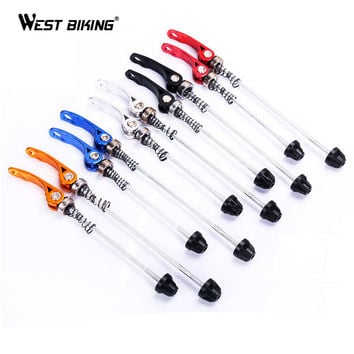 New Pro Road MTB Bike Bicycle Hubs Quick Release Cycling Bike Quick Release Axle Skewers Seat Binder Set Cycling Bicycle Skewer