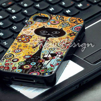abstract cat case for iphone 4/4S, iphone 5/5C, samsung galaxy s3, samsung galaxy s4, ipod 4 and ipod 5