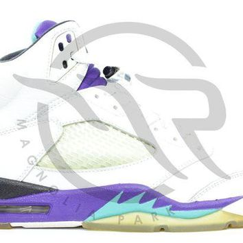NOV9O2 AIR JORDAN RETRO 5 LS - GRAPE (2006)