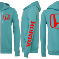 HONDA ZIPPER SWEATSHIRT