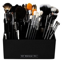 Makeup Brush Holder Organizer - 6 Slot Acrylic Cosmetics Brushes Storage Solution By N2 Makeup Co