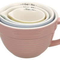 Stoneware Measuring Cups, Set of 4, Cooking Prep Tools