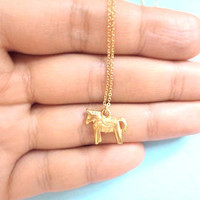 Dala, horse, Swedish, Dala, Horse, Necklace, Dala, Necklace, Horse, Minimal, Jewelry, Cute, Gift