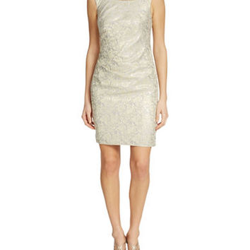 Decode 1.8 Beaded Sheath Dress