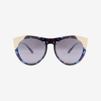 Smoke X Mirrors Zou Bisou Blue Glam Sunglasses at INTERMIX | Shop Now | Shop IntermixOnline.com
