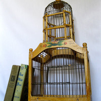 Vintage Bird House Home Decor Pagoda Style by ToucheVintage
