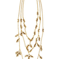 Oscar de la Renta | Gold-plated leaf necklace | NET-A-PORTER.COM