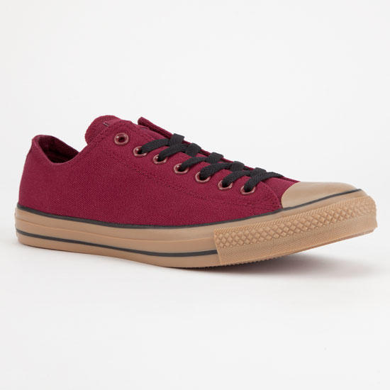 1621a264900e Converse Chuck Taylor All Star Low Gum Mens Shoes Burgundy In Sizes