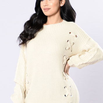Mixing It Up Sweater - Beige