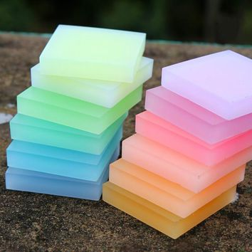 5 * 5 *1cm colored crystal clear jelly Rubber Carving Blocks rubber stamp Diy sculpture tool free shipping