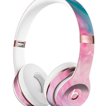 Marbleized Pink and Blue Paradise V712 Full-Body Skin Kit for the Beats by Dre Solo 3 Wireless Headphones