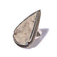 Dusty Flint Diamond Ring - Size 6.5