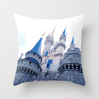 Disney Castle In Color Throw Pillow by AMarloweCanPrint | Society6