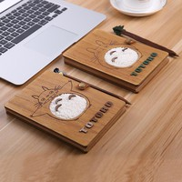 Novelty Cartoon Totoro Planner Notebook Cute Wooden Chinchilla Diary Note Book Gifts School Office Stationery Supplies