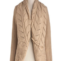 Purl Up With Me Cardigan in Beige | Mod Retro Vintage Sweaters | ModCloth.com