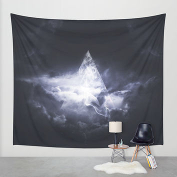 Girl Giza Wall Tapestry by HappyMelvin