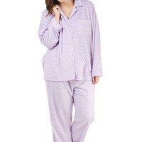 ModCloth Long Sleeve That's Great Snooze Pajamas in Dots - Plus