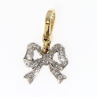 Juicy Couture Pave Bow Crystal Handbag or Bracelet Charm YJRUO511