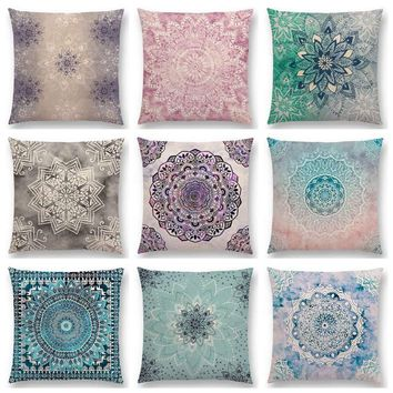 Hot Sale Dreamy Rainbow Boho Desert Flower Gorgeous  Mandalas Starlight Fantasy Sky Prints Cushion Home Decor Sofa Throw Pillow
