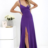 Bridgetown Beauty Purple Maxi Dress