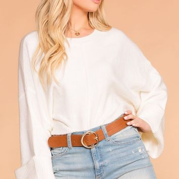 Felicia Ivory Sweater Top