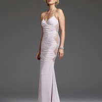 SALE! Mignon 2013 Prom Dresses - Rose Ruched Sequin Open Back Prom Dress