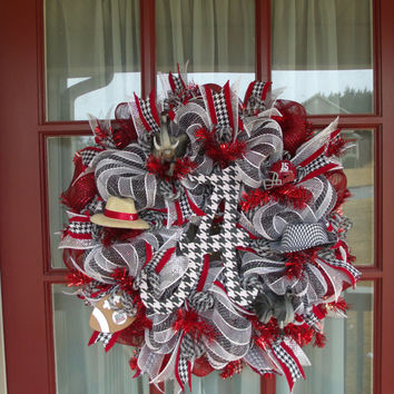Alabama Crimson Tide Deco Mesh Door Wreath