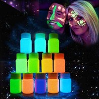 ac DCCKO2Q 9 Colors Neon Fluorescent Body Paint Grow In The Dark Face Painting Luminous Acrylic Paints Art for Halloween Party YF2017