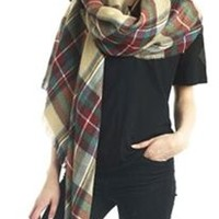 Look Collections Tartan Plaid Blanket Scarf MSF0987 Other Colors Available