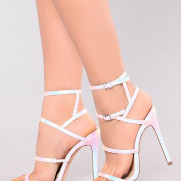 Caged In Heel - Pink