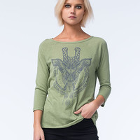 O'neill Safari Womens Tee Olive  In Sizes