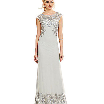 JS Collections Embellished Chiffon Gown | Dillards.com