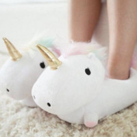 Unicorn Slippers LED Light Up House Slippers