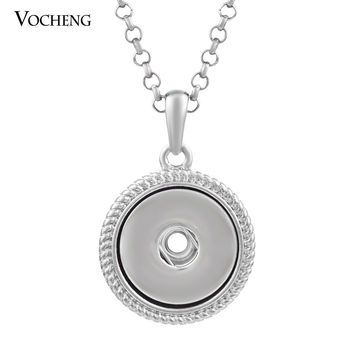 (10pcs/lot ) Snap Charm Pendant Necklace 18mm Interchangeable Jewelry (NN-287*10) Vocheng Jewelry Free Shipping
