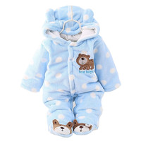 BibiCola winter Infant clothes children clothing set cartoon soft cotton warm thick baby boys girls clothes suit newborn outfits