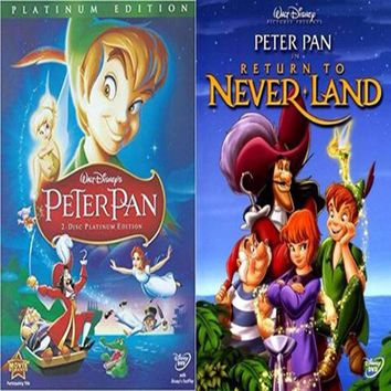 Peter Pan DVD 1 & 2 Includes Both Movies