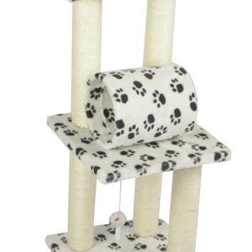 "New Premium Multiple 34"" CAT TREE CONDO FURNITURE SCRATCHPOST PET HOUSE Paw"