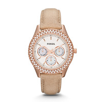 Stella Multifunction Sand Leather Watch