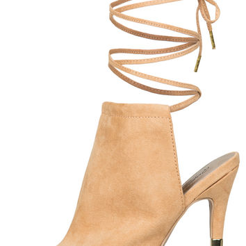 Katelyn Lace Up Mule (Toffee)